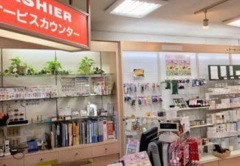 新宿・大久保・文房具の太陽堂のレジカウンター周りの様子